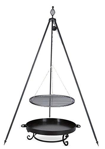 Schwenkgrill mit Dreibein Royal, Rost 80 cm aus Rohstahl, Feuerschale #32 80 cm günstig
