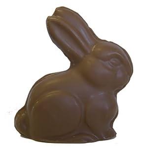 Round Sitting Chocolate Easter Bunny 6 oz, Dark