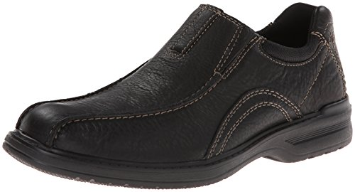 Clarks Men's Sherwin Time Slip-On Loafer,Black Tumbled Leather,12 W US