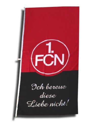 Capacità 1.FCN 120 cm x 250 cm con Bandiera testo 'Ich Liebe nicht bereue diese' (i Don 't pentire Love) [lingua tedesca]