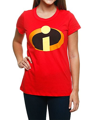 The Incredibles Logo Juniors Red T Shirt Xxl