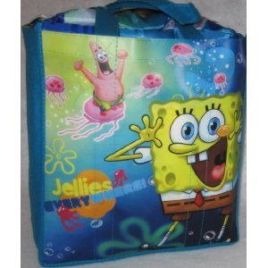 More image SpongeBob Sleeping Bag 3 Piece Set - Slumber Sack, Pillow, and Tote Bag