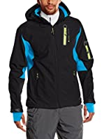 Peak Mountain Chaqueta Soft Shell Cavybi (Negro / Azul Royal)