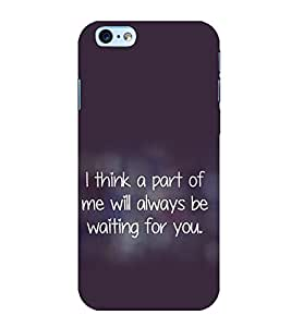 printtech Quotes Love Back Case Cover for Apple iPhone 6S