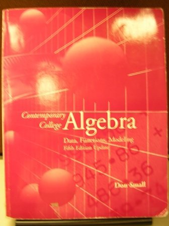 Contemporary College Algebra: Data, Functions, Modeling w/CD
