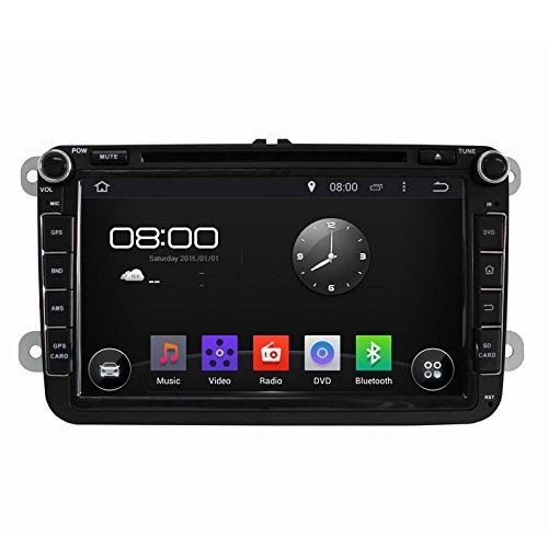 Rupse - Android Autoradio DVD GPS Système de Navigation Stereo Lecteur DVD Voiture Avec 8 pouces HD Ecran Tactile Capacitif 3G Wifi BT CAN BUS pour VW Volkswagen SKODA Golf etc.