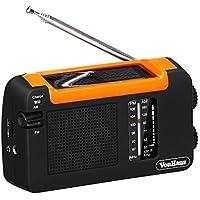 VonHaus - Solarbetriebenes + Aufladbares Dynamo AM FM Radio Solarradio Sonnenradio Solar Radio