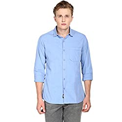 Hueman Light Blue Full Sleeve Cotton Shirt