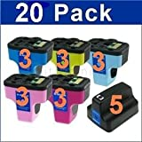ink4print Remanufactured Ink Cartridge Replacement for HP C8721WN (Black,Yellow,Light Cyan,Cyan,Light Magenta,20-Pack)