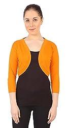 Threadz Women's Shrug (T-W-1058-Orange-5XL, Orange, 5XL)