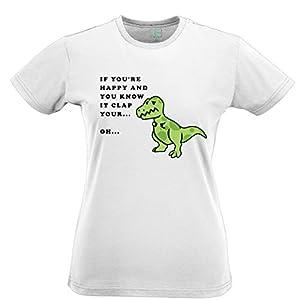 Unhappy Dinosaur Tshirt Womens Xsmall - XXLarge