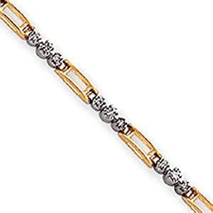 14K White & Yellow Gold Completed Fancy Diamond Tennis Bracelet, 7 inches (0.5 ctw, G-I Color, SI2 Clarity)