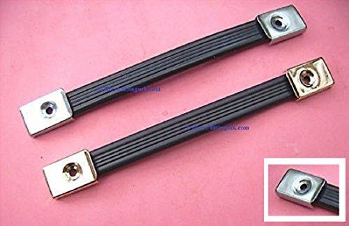 "41MirCH yXL - BEST BUY #1 1x 8"" (200mm) HANDLES lay flat Brief CASE/tool box/WORK metal+plastic NICKEL"