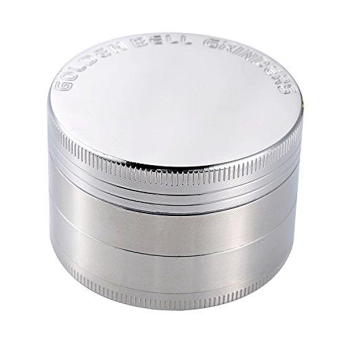 Golden-Bell-4-Piece-2-Spice-Herb-Grinder-Silver