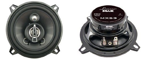 Lanzar Mx53 Max Series 5.25-Inch 140-Watt 3-Way Coaxial Speakers (Pair)