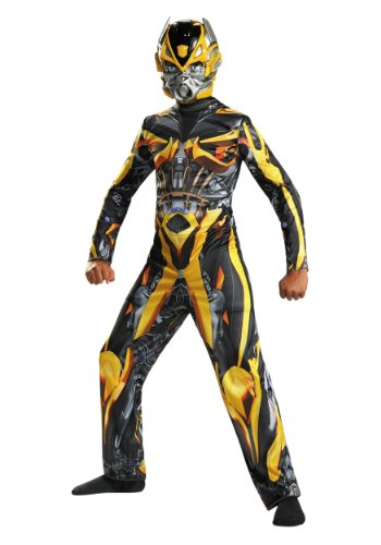 Disguise Hasbro Transformers Age of Extinction Movie Bumblebee Classic Boys Costume, Large/10-12 (Yellow Camaro Bumblebee compare prices)