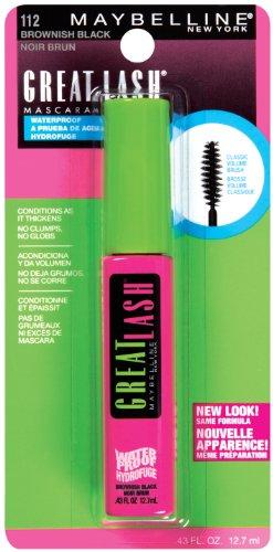 Maybelline Great Lash Waterproof Mascara, Brownish Black | Preen.Me