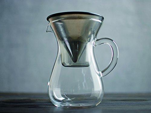 4 Becher Kinto Karaffe Kaffee-Set aus Japan mit Sieb, keine Papierfilter