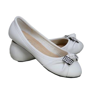 ballerines blanche pour enfant taille 36 couleur blanc. Black Bedroom Furniture Sets. Home Design Ideas