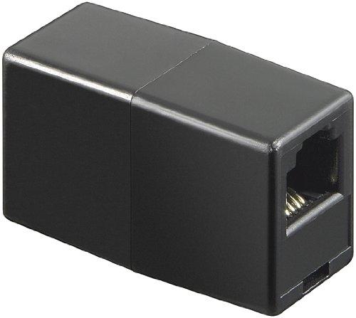 RJ11-Kupplung ; TEL ADAP RJ11/6P4C 2xF JACK/JACK BLACKPL