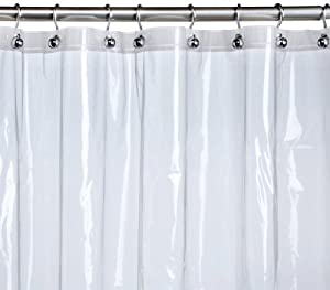 Com pinzon peva shower curtain liner clear 72 x 72 inches