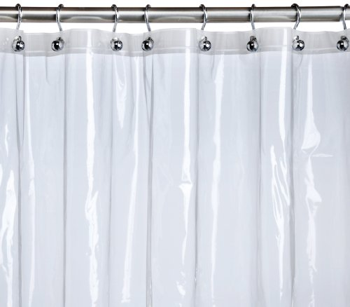 pinzon peva shower curtain liner clear 72 x 72 inches