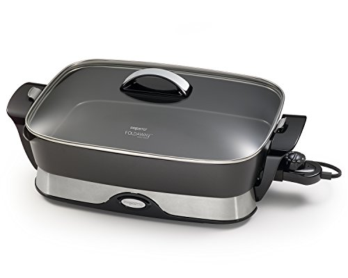 Presto 06857 16-inch Electric Foldaway Skillet, Black (Folding Frying Pan compare prices)