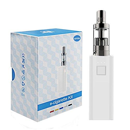Elektronische Zigarette IBOX 30W FLYing Komplett Starterset mit Top Refill Clearamizer 0.3ohm Box Mod 2200mAh e Rauchen(Weiß Kit) 0 mg Nikotin