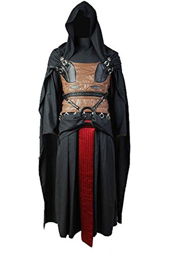 [Dben Mens Cosplay Set Uniform Darth Revan Costume Halloween Outfit] (Captain Ron Halloween Costume)