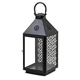 Large Victorian Crystals Candle Lantern Loop Home Decorative Hanging Iron Holder
