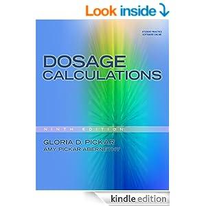 Dosage Calculations Kindle Edition By Gloria D Pickar