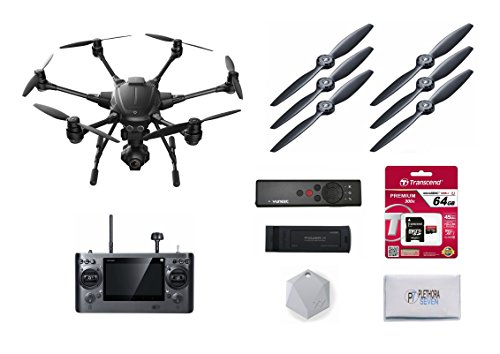 Yuneec-Typhoon-H-Hexacopter-Drone-Starter-Kit-Wizard-Wand-64GB-SD-Card-Extra-Propellers-XY-Find-It-Beacon-Battery-Charger-ST16-Ground-Station-CGO3-4K-UHD-Camera-w-Lens-Polishing-Cloth