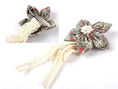 花 レース ヘアピン リボン 髪飾り ヘアゴム