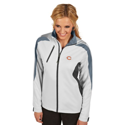 NFL Chicago Bears Women's Discover Jacket, White/Smoke/Steel, Large at Amazon.com
