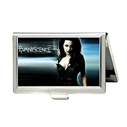 Evanescence Custom Fashion Metal Stainless Steel Pocket Business Name Credit ID Card Case Box Holder by Oskay