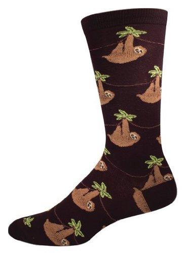 Socksmith-Mens-Sloth-Crew-Socks-in-Black
