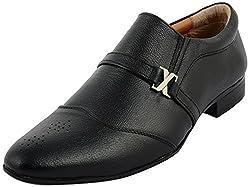 Sarby Shoes Mens Black Mild Leather Formal Shoes- 7 UK