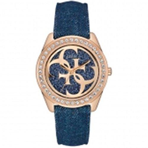 Guess W0627L3 - Reloj con correa de metal para mujer, color dorado / azul