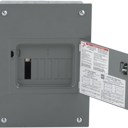 Square D by Schneider Electric QO816L100DF QO 100-Amp 8-Spaces 16-Circuit Indoor Flush Mount Main Lugs Load Center with Cover and Door
