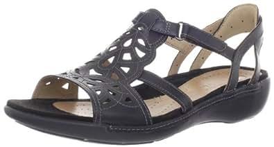 Clarks Women's Clarks Un.Quartz Sandal,Black,6.5 W US