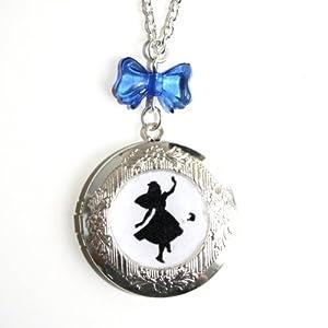 Sour Cherry Alice in Wonderland Locket Necklace
