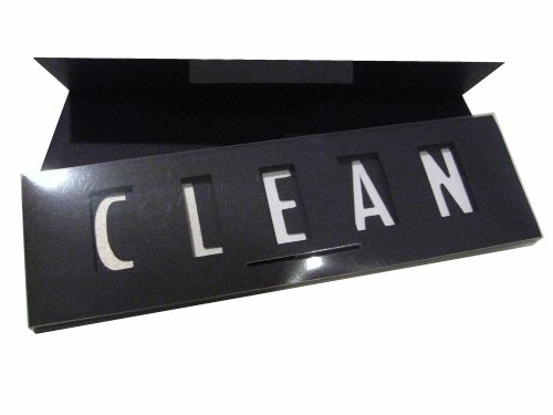 Clean Dirty Magnet Sign for the Kitchen or Laundry, Black