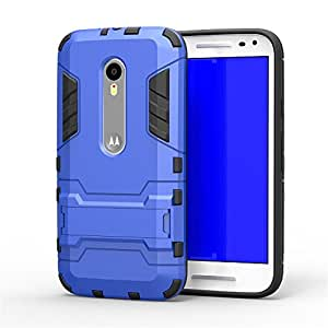 Royal Rusi - Designed Back Case Stand , Otg Cable, USB Charger For Motorola Moto G3 G 3rd Generation - Blue