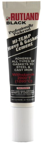 Rutland Stove Gasket Cement, 2.3-Ounce Tube, Black (Rope Gasket Wood Stove compare prices)