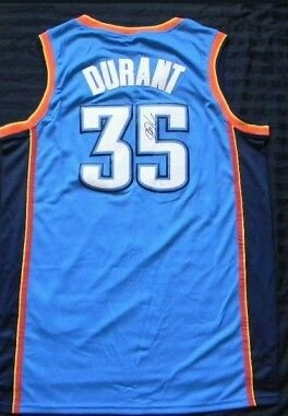 Kevin Durant Oklahoma City Oklahoma City Thunder Jersey Autographed w/ Coa at Amazon.com
