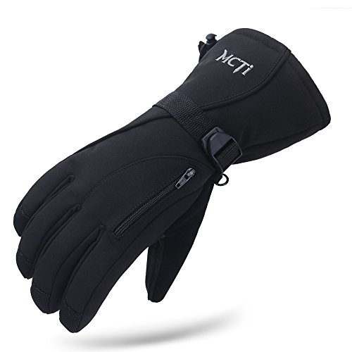Waterproof Windproof Men Women Winter Thinsulate Thermal Warm Snow Skiing Snowboarding Snowmobile Ski Gloves Black XL