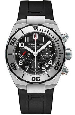 〔ハミルトン〕HAMILTON 腕時計 カーキネイビーサブオートクロノ H78716333