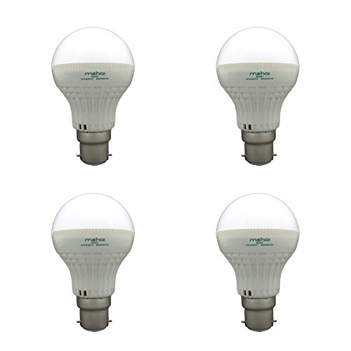 Super Bright 5W LED Bulbs (White, Pack of 4)