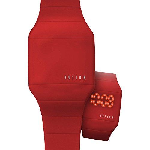 Dakota Fusion Red Hidden Led Touch Screen Watch