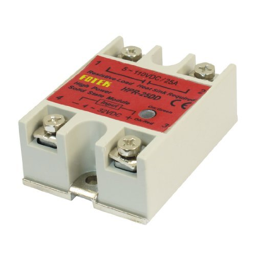 Water & Wood HPR-25DD 25A One Phase Machinery Control Solid State Relay w Base with Car Cleaning Cloth normally open single phase solid state relay ssr mgr 1 d48120 120a control dc ac 24 480v
